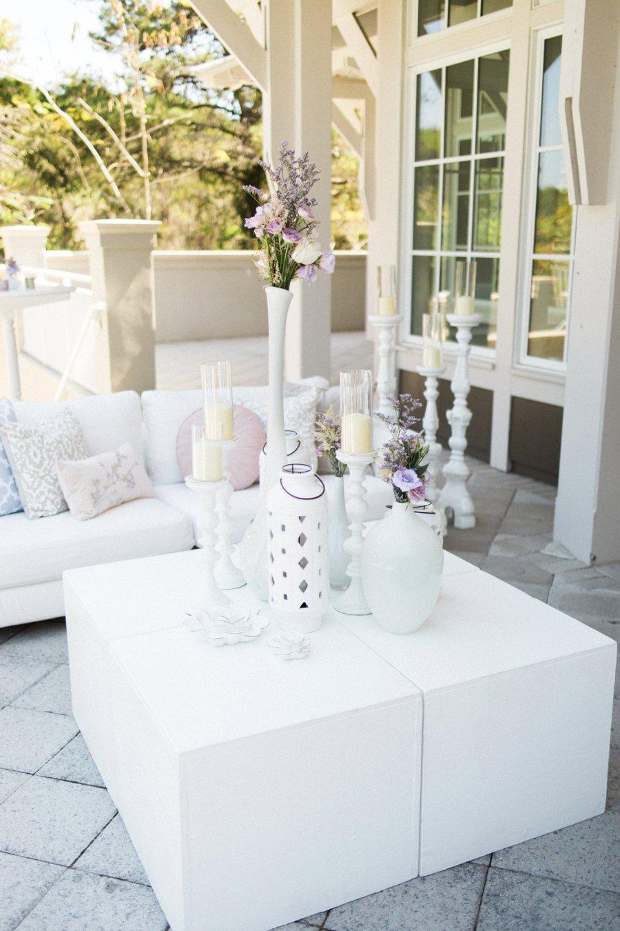 Lavender and White Florida Beach Wedding via TheELD.com