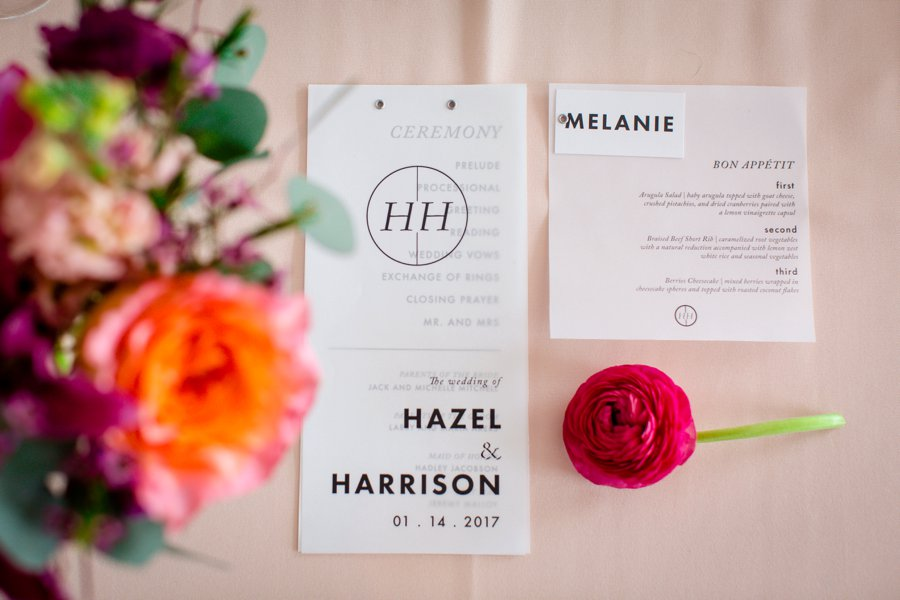Colorful Pink & Berry Modern Wedding Ideas via TheELD.com