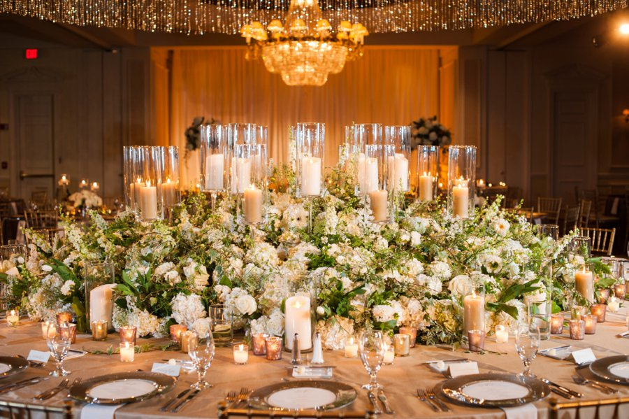 Glamorous Champagne & White Georgia Wedding via TheELD.com