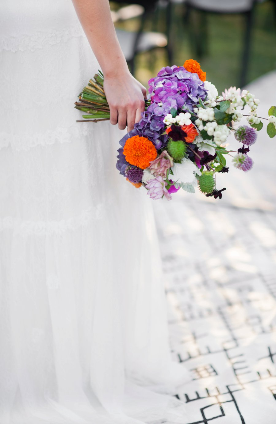 Colorful & Bold Industrial Wedding Ideas via TheELD.com
