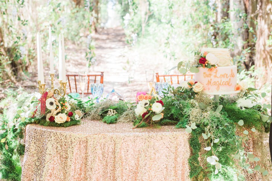 Colorful Enchanted Garden Wedding Ideas via TheELD.com