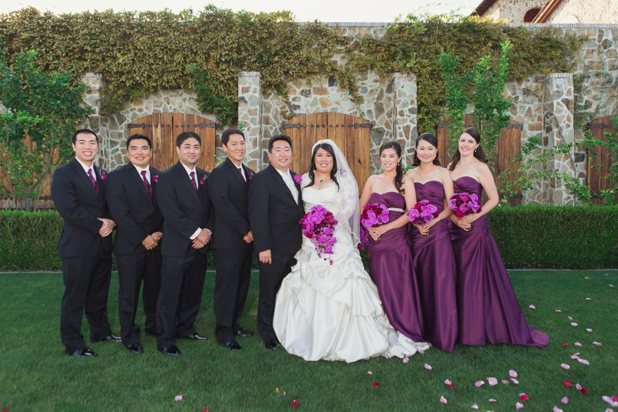An Elegant Glam Purple California Vineyard Wedding via TheELD.com