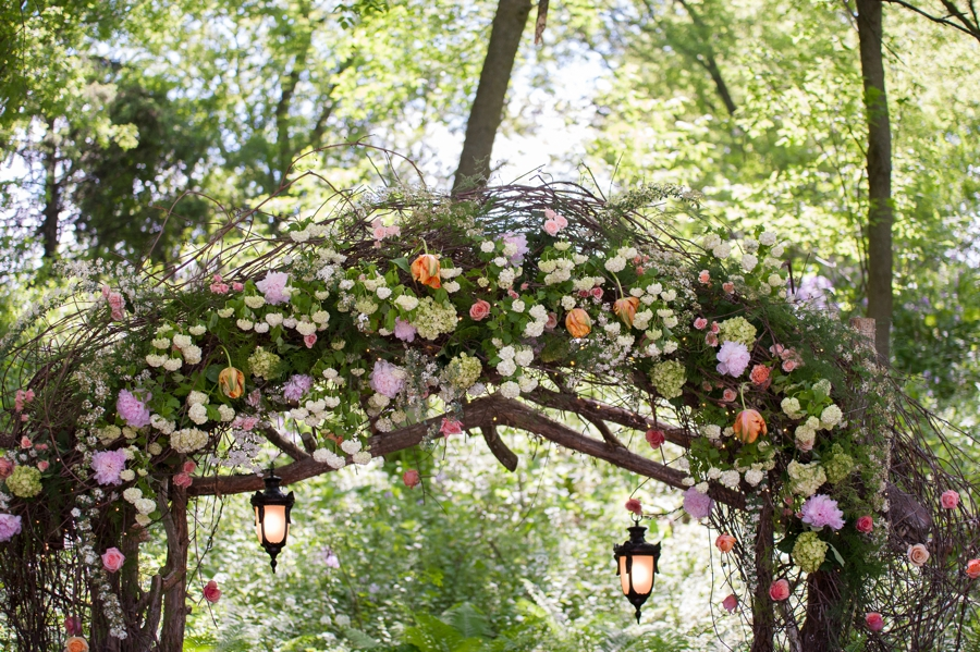 Classic Pink Minnesota Garden Wedding via TheELD.com