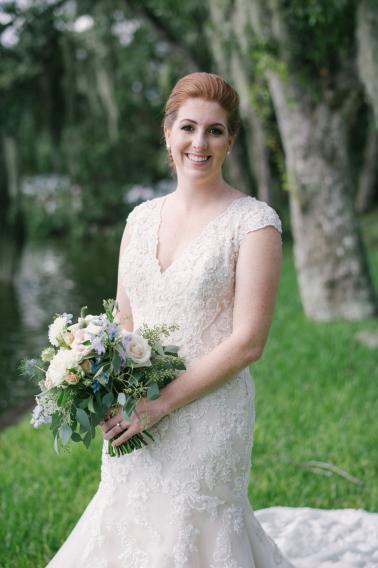 Blue & White Florida Garden Wedding via TheELD.com