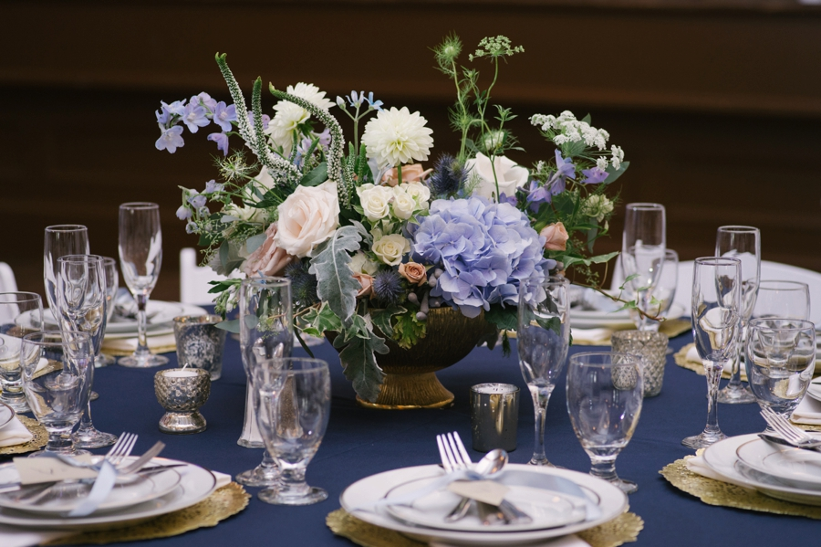 Blue & White Florida Garden Wedding via TheELD.com