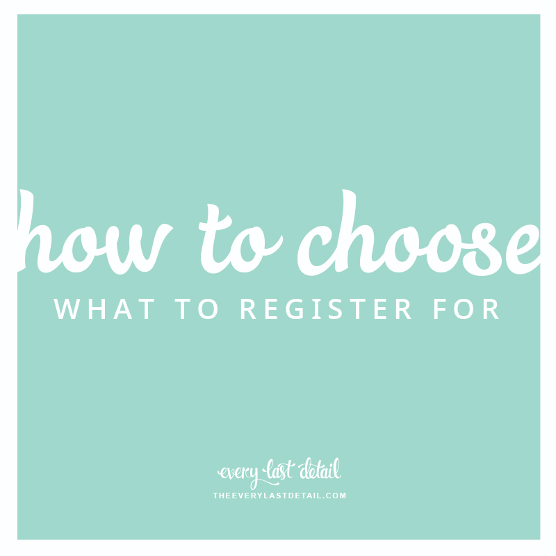 Wedding Registries: How To Choose What To Register For via TheELD.com