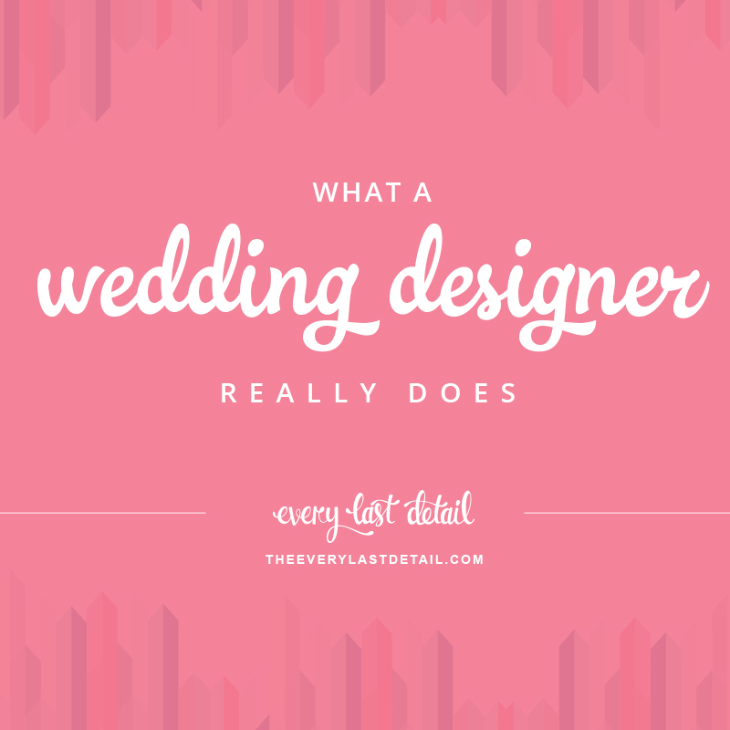 What A Wedding Designer Really Does via TheELD.com