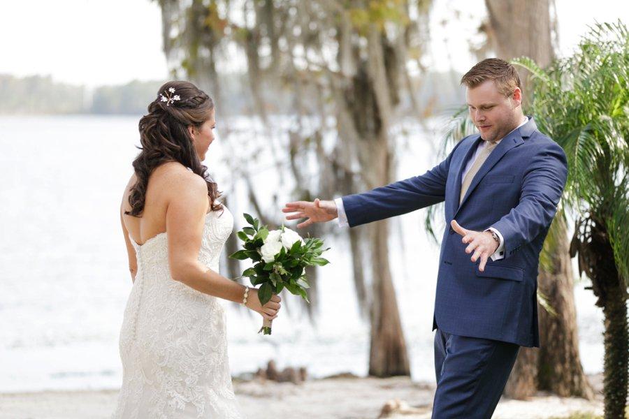 Lavender & Green Lakefront Central Florida Wedding via TheELD.com