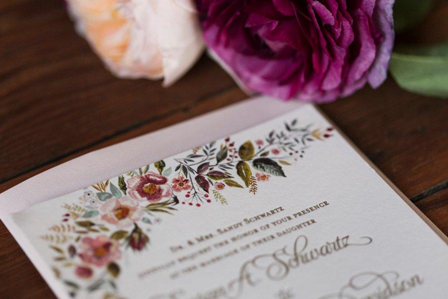 Pink & Mixed Metallic Sophisticated Boho Wedding Ideas via TheELD.com