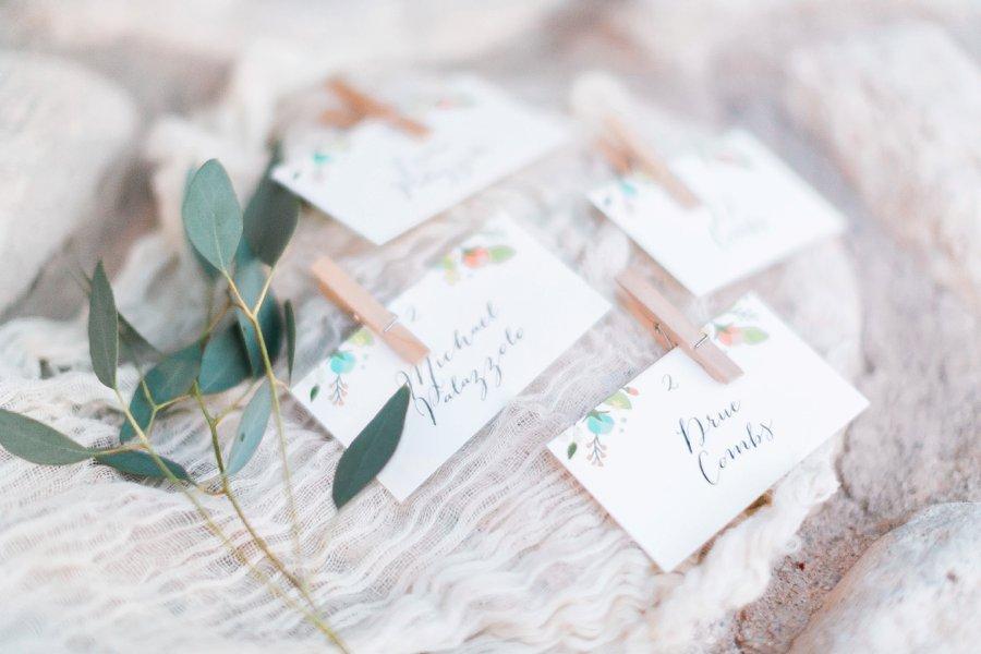 Blue & Peach Las Vegas Garden Wedding via TheELD.com