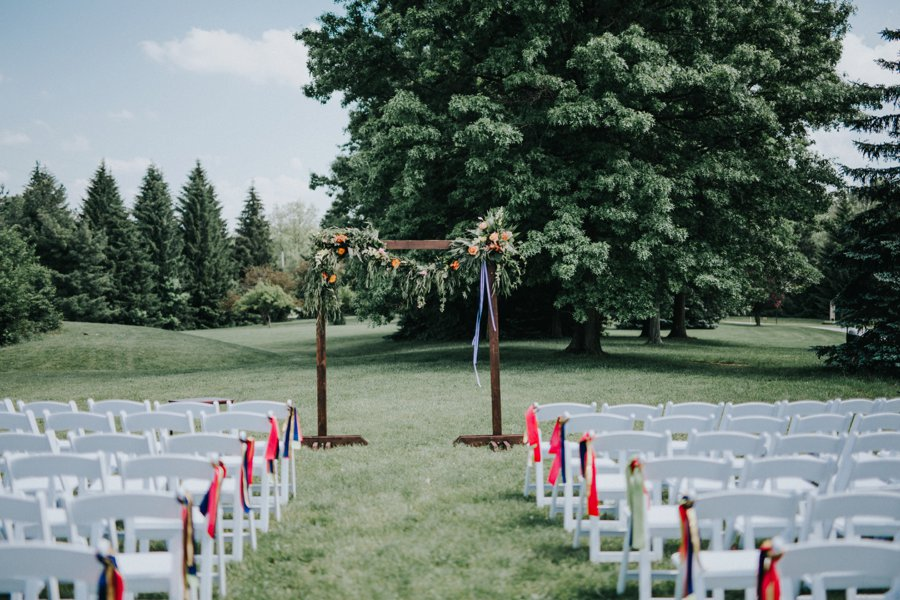 An Eclectic & Colorful Ohio Wedding via TheELD.com