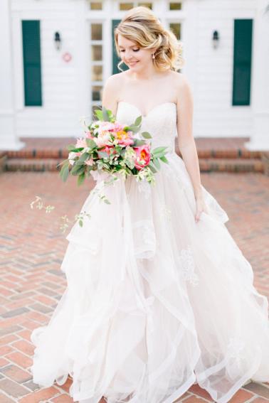 Pink & Peach Florida Floral Garden Wedding Ideas via TheELD.com