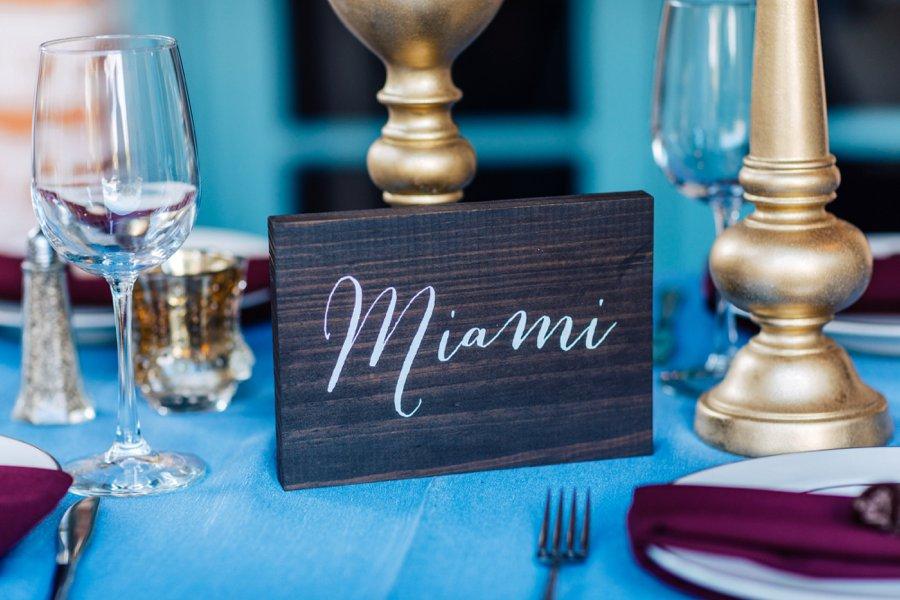 An Elegant Deep Red and Blue Central Florida Wedding via TheELD.com