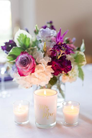 A Classic Purple and Berry Vineyard Wedding via TheELD.com