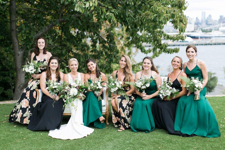Green and White Classic Organic Seattle Wedding via TheELD.com