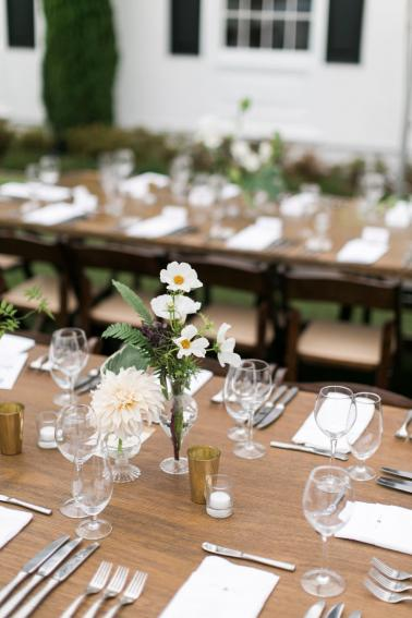 Green and White Classic Organic Seattle Wedding via TheELD.com