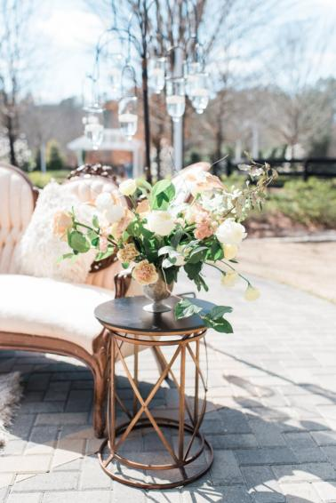 Elegant Peach and White Wedding Ideas via TheELD.com