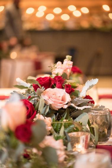 A Southern Pink & Red North Carolina Wedding via TheELD.com