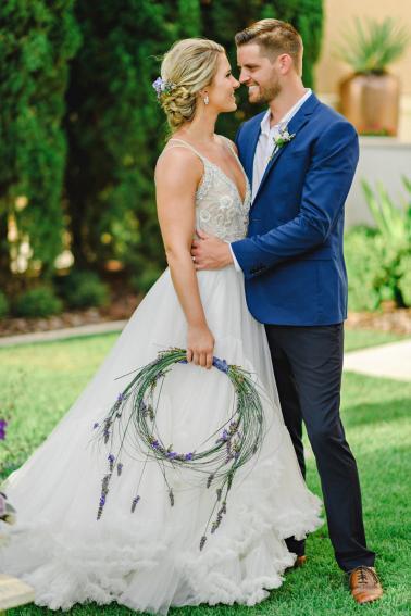 Lavender & Blue French Inspired Wedding Ideas via TheELD.com