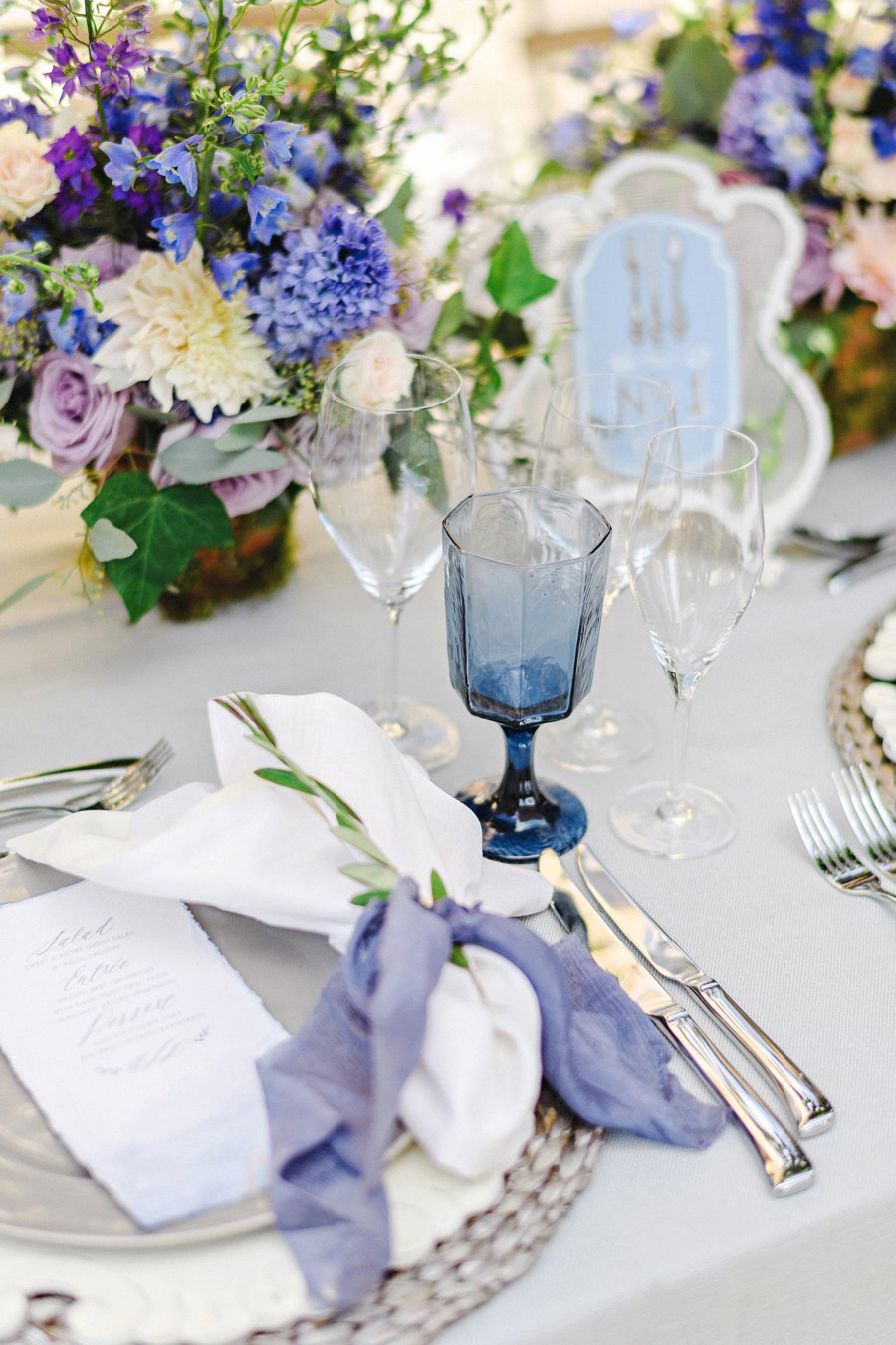 Lavender & Blue French Inspired Wedding Ideas via TheELD.com