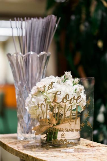 Elegant Pink and White Florida Wedding via TheELD.com