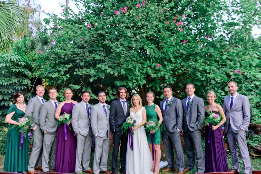 A Purple & Green Woodland Inspired Wedding via TheELD.com