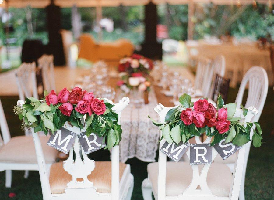 Red & Purple Vintage Inspired Miami Garden Wedding via TheELD.com