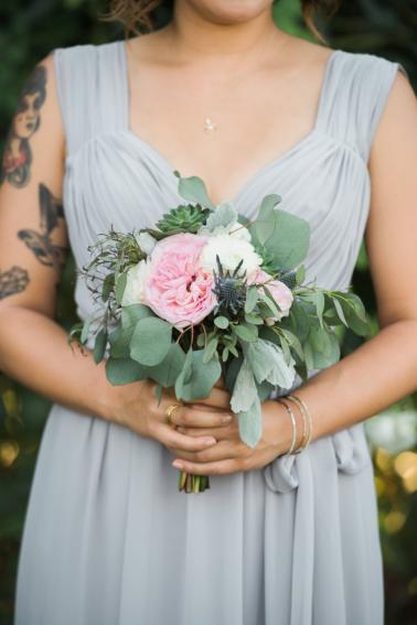 Classic Grey and Pink Nautical California Wedding via TheELD.com