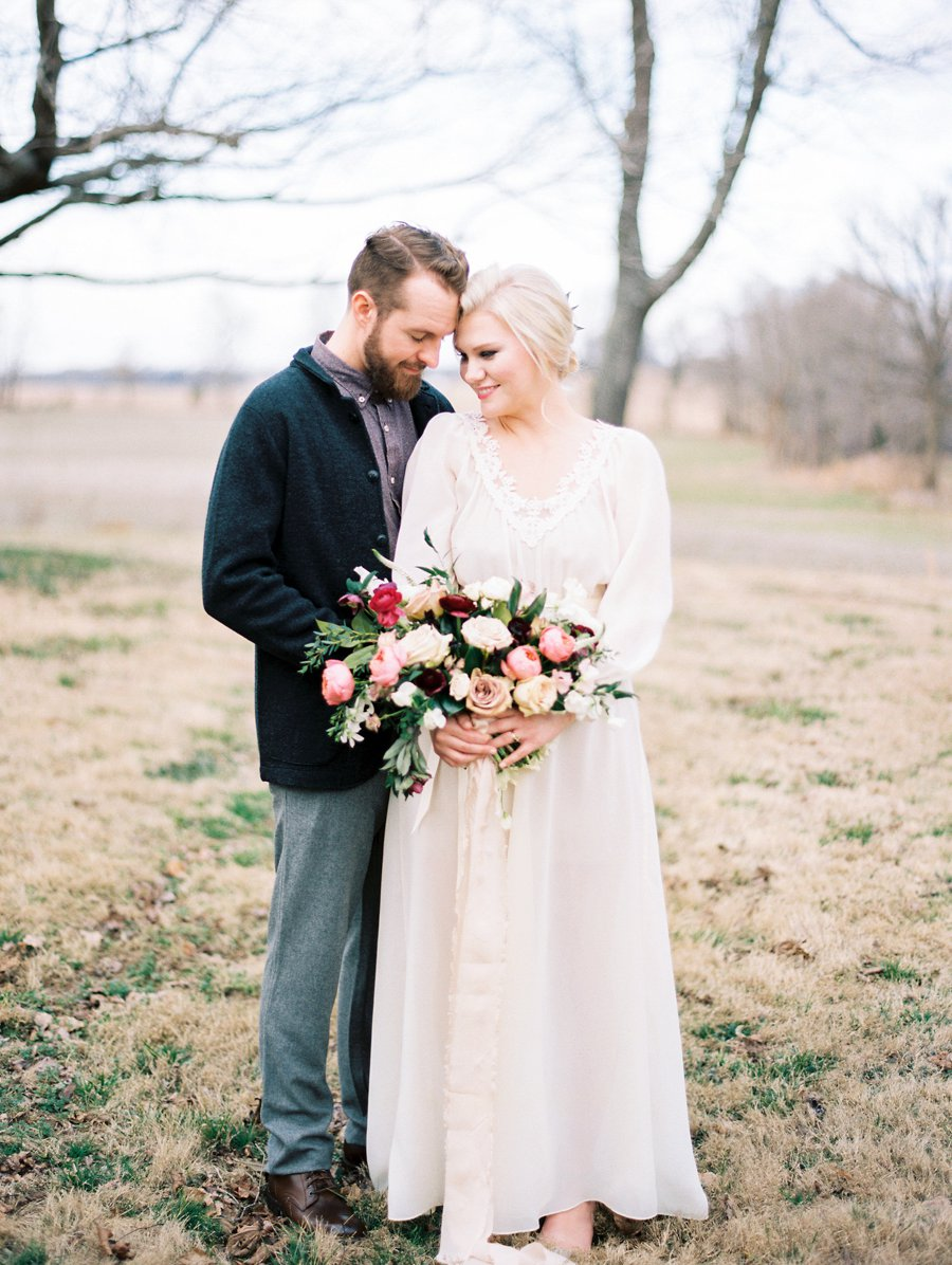 Organic Blush & Cranberry Private Estate Wedding Ideas via TheELD.com