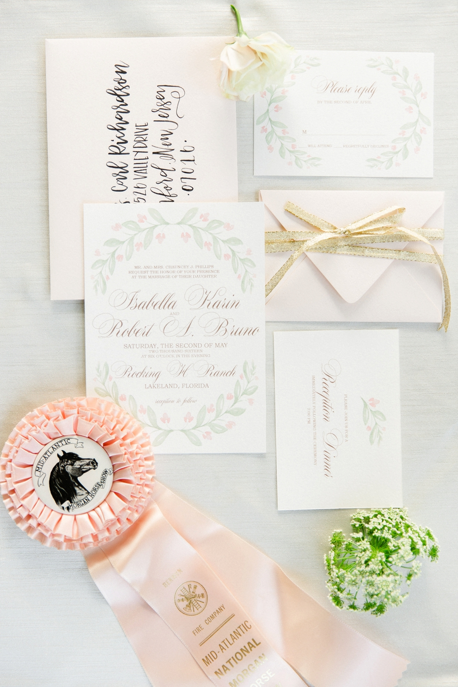 Romantic Blush & White Kentucky Derby Inspired Wedding Ideas | Every ...