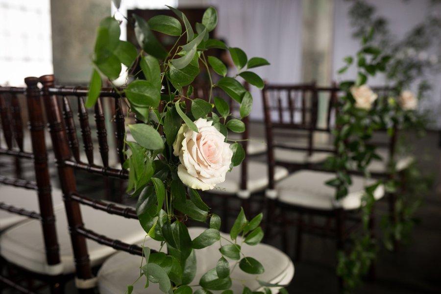 An Organic Blush, White, & Green North Carolina Wedding via TheELD.com