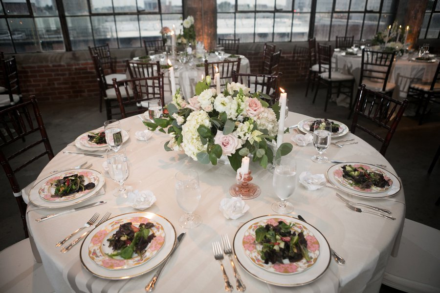 An Organic Blush, White, & Green North Carolina Wedding via TheELD.com