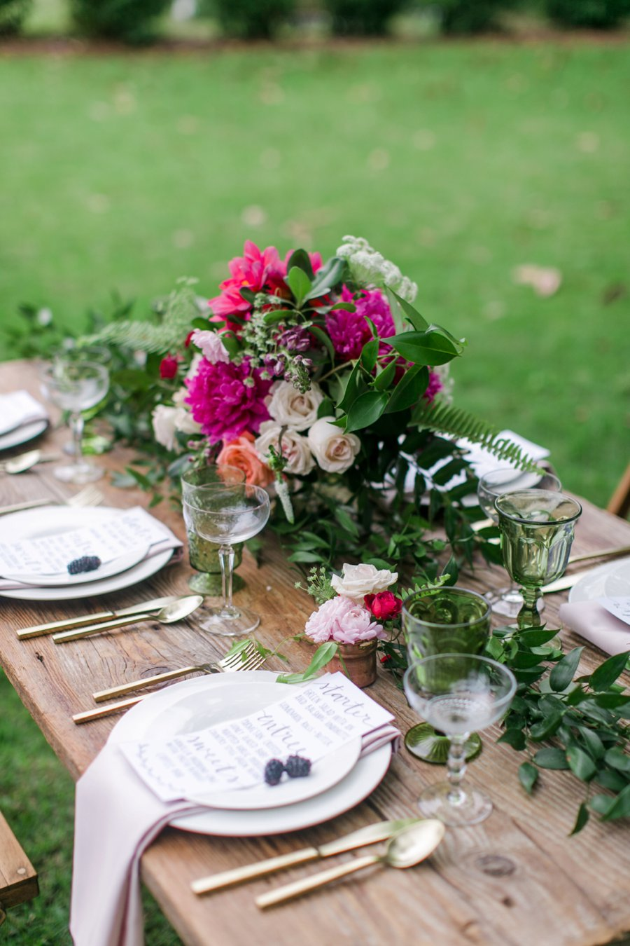 Pink Rustic Garden Inspired Wedding Ideas via TheELD.com