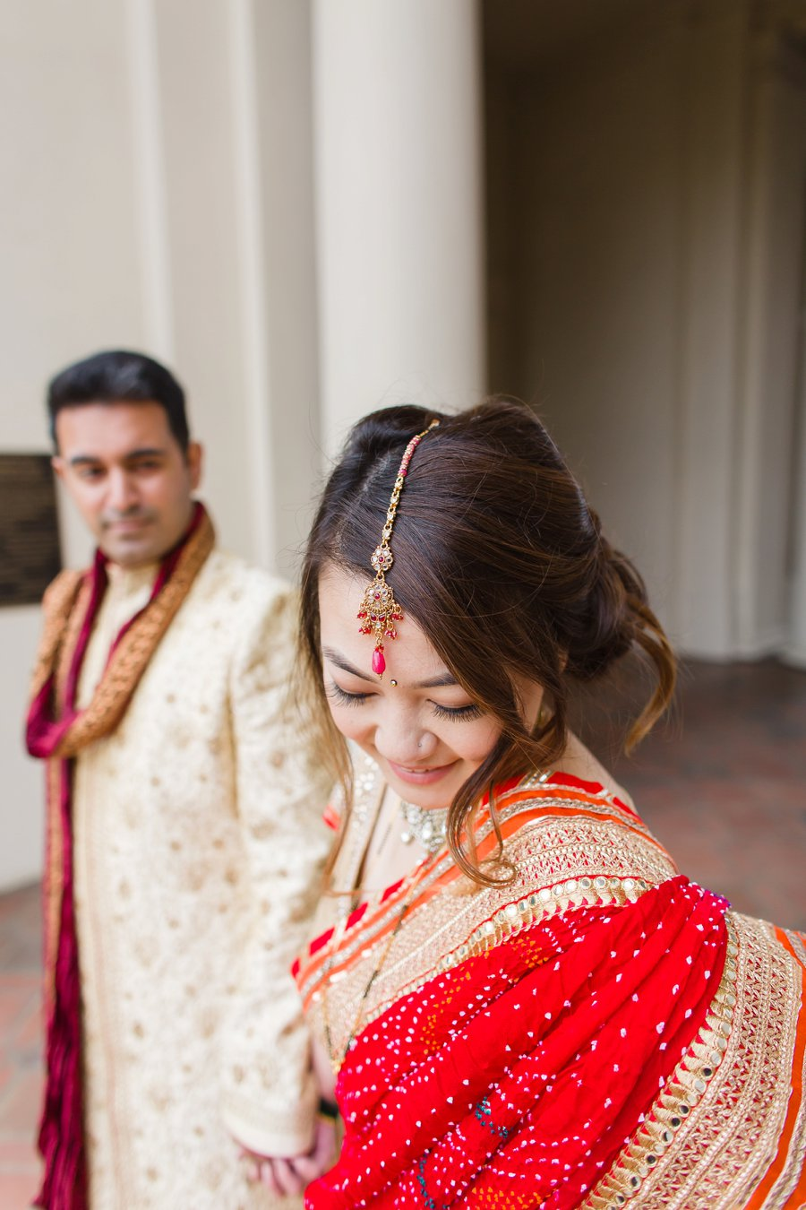 A Navy and Yellow Elegant Multicultural California Wedding via TheELD.com