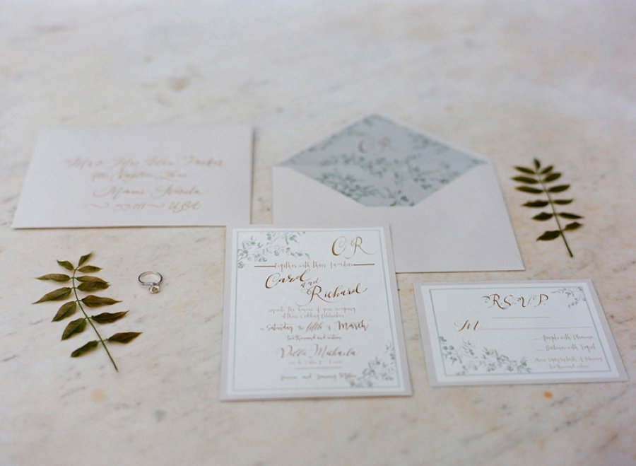 Romantic Blush, White, & Green Italian Villa Wedding Ideas via TheELD.com