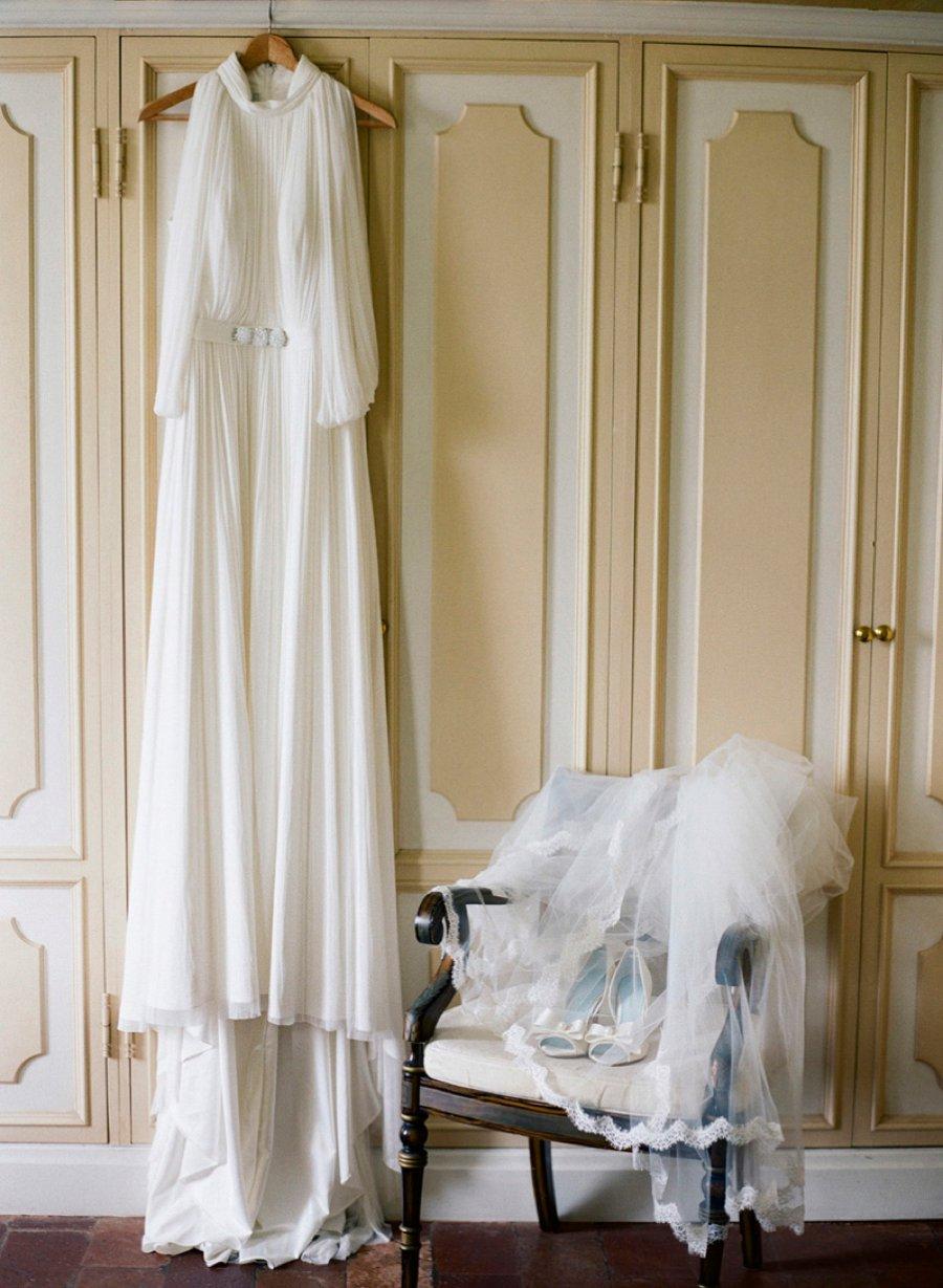 Romantic Blush, White, & Green Italian Villa Wedding Ideas via TheELD.com