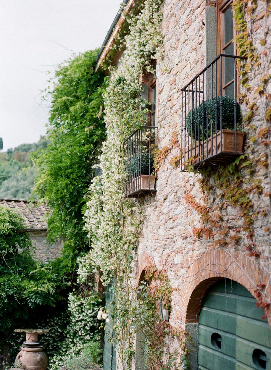 Romantic Blush White Amp Green Italian Villa Wedding Ideas