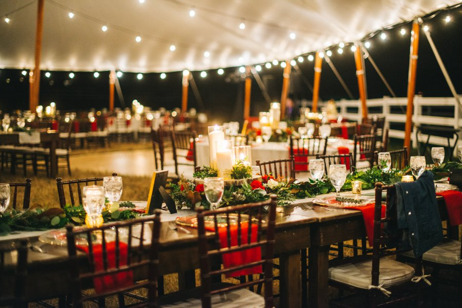 A Rustic Red and White Woodland inspired Central Florida Wedding via TheELD.com
