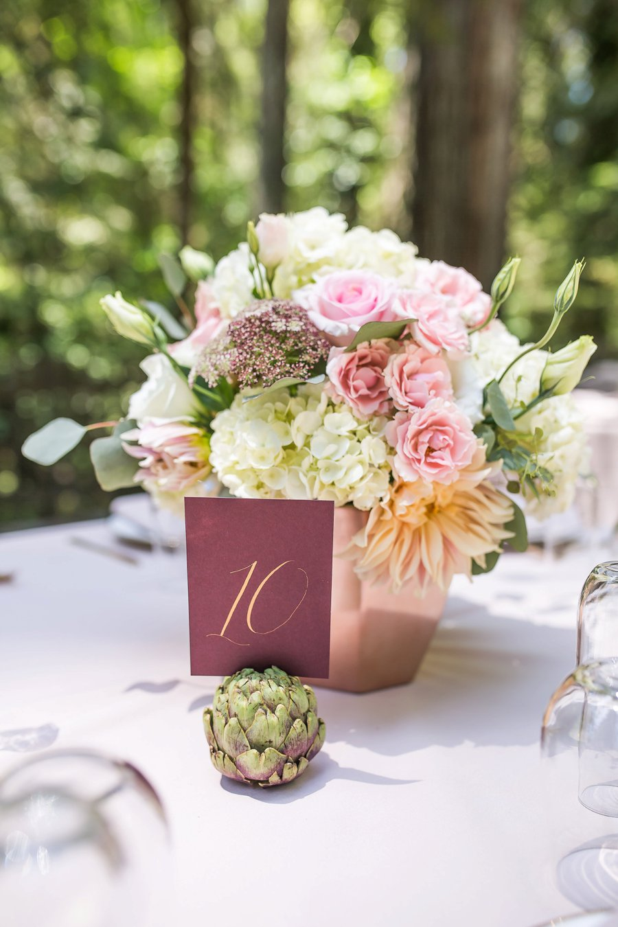 Blush, Peach, & Ivory Woodsy California Wedding via TheELD.com