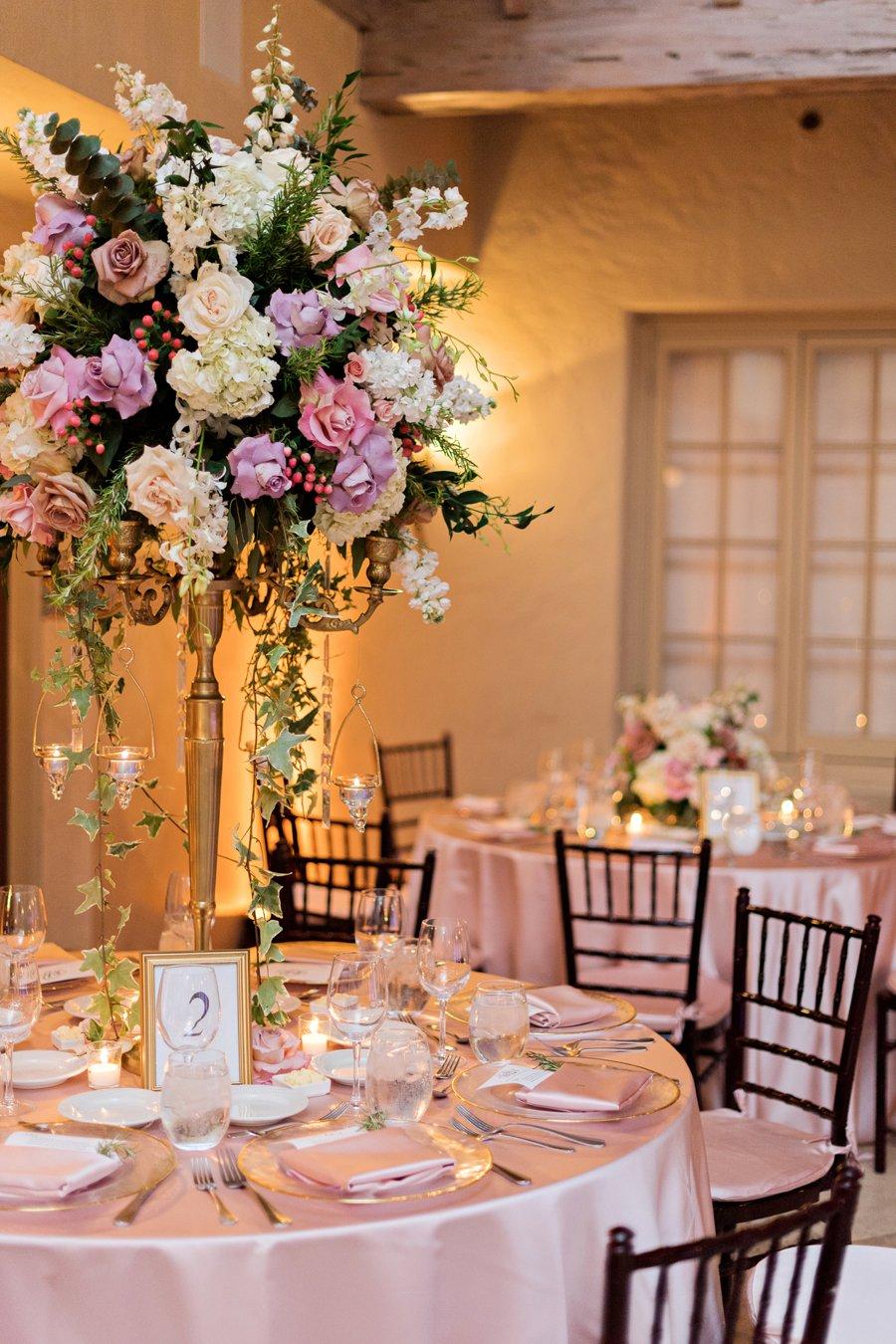 An Elegant Pink & Gold South Florida Wedding via TheELD.com