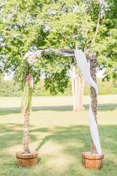 Pink & Teal Southern Hospitality Virginia Wedding via TheELD.com