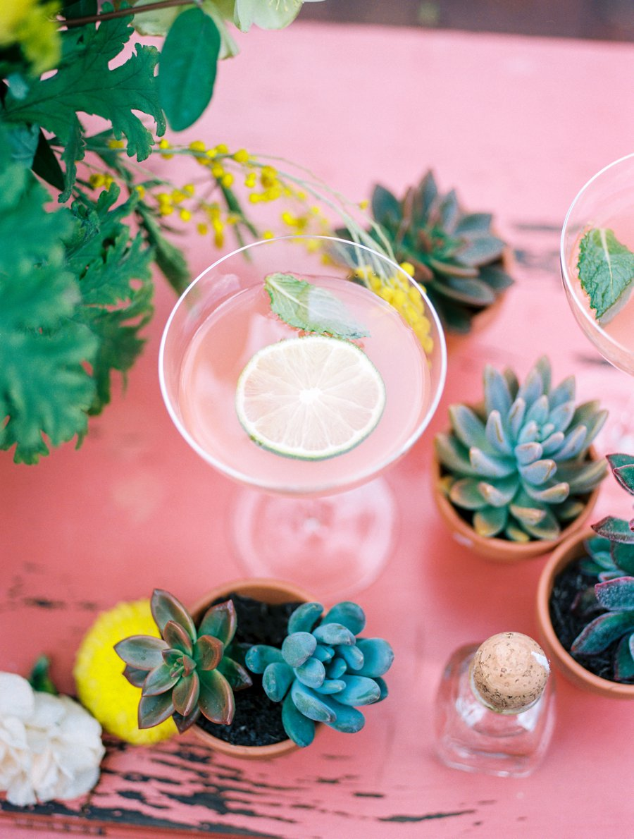 Peach, Yellow, and Green Tropical Wedding Ideas via TheELD.com
