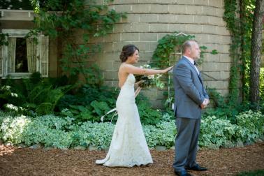 Elegant Burgundy & Blush Michigan Wedding via TheELD.com