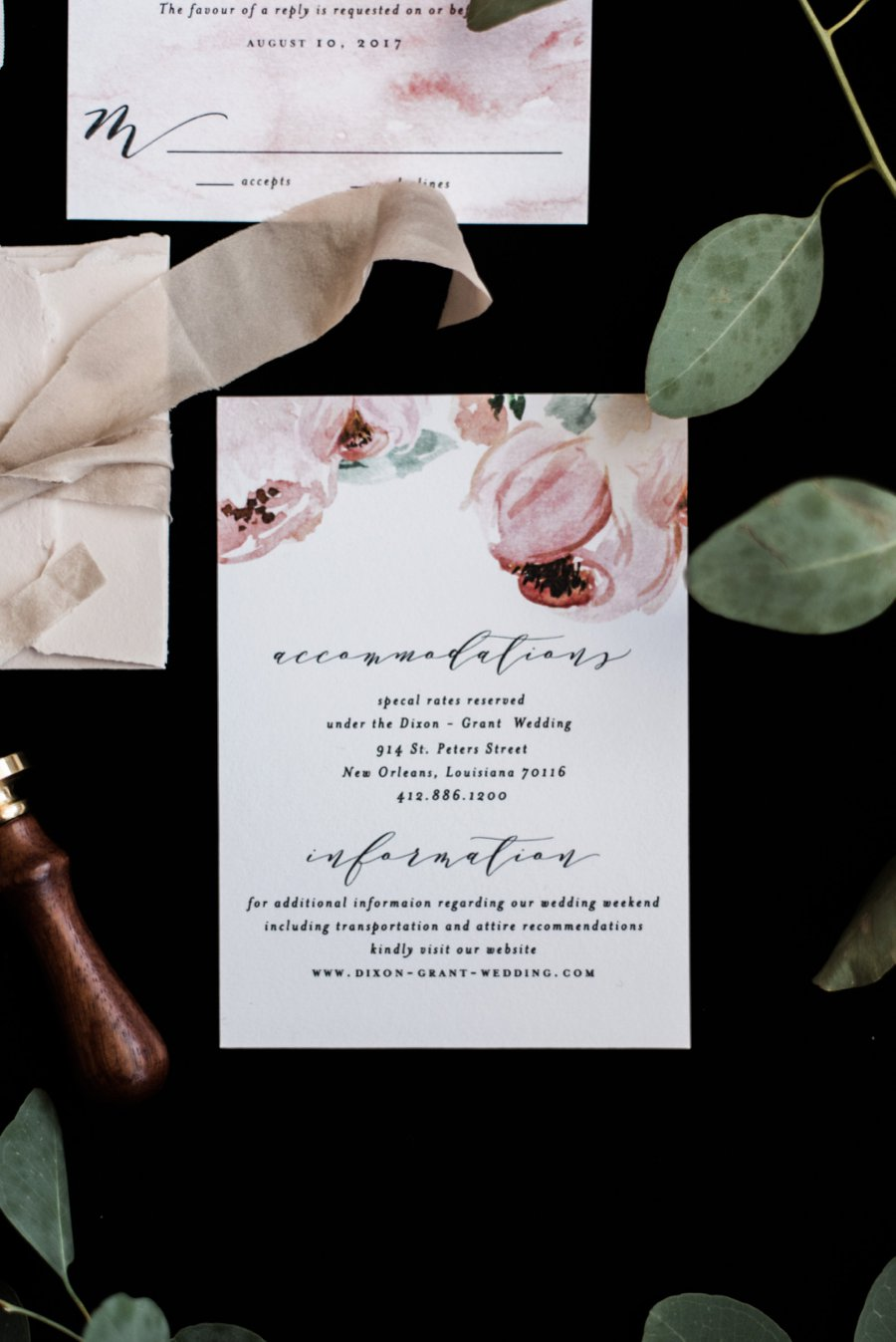 Nature Inspired Floral Wedding Invitation via TheELD.com