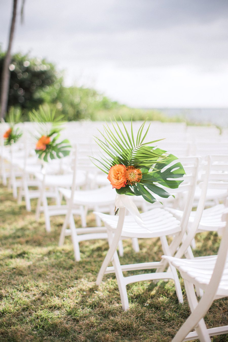 A Tropical Orange Amp Green Florida Destination Wedding
