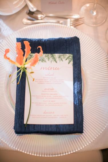 A Tropical Orange & Green Florida Destination Wedding via TheELD.com