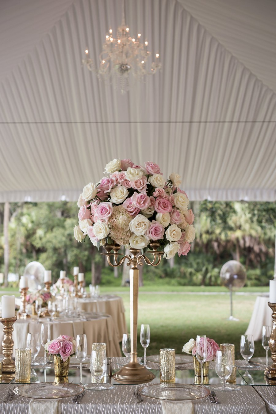 A Pink & White Classically Romantic Florida Wedding via TheELD.com