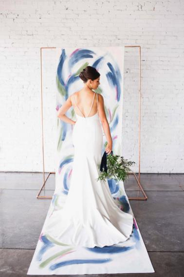 Navy Blue Modern Abstract Art Inspired Wedding Ideas via TheELD.com