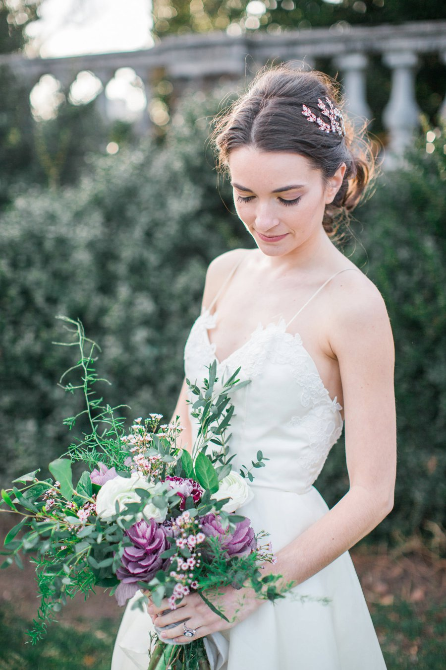 Organic Lavender and Green Tuscan Inspired Wedding Ideas via TheELD.com