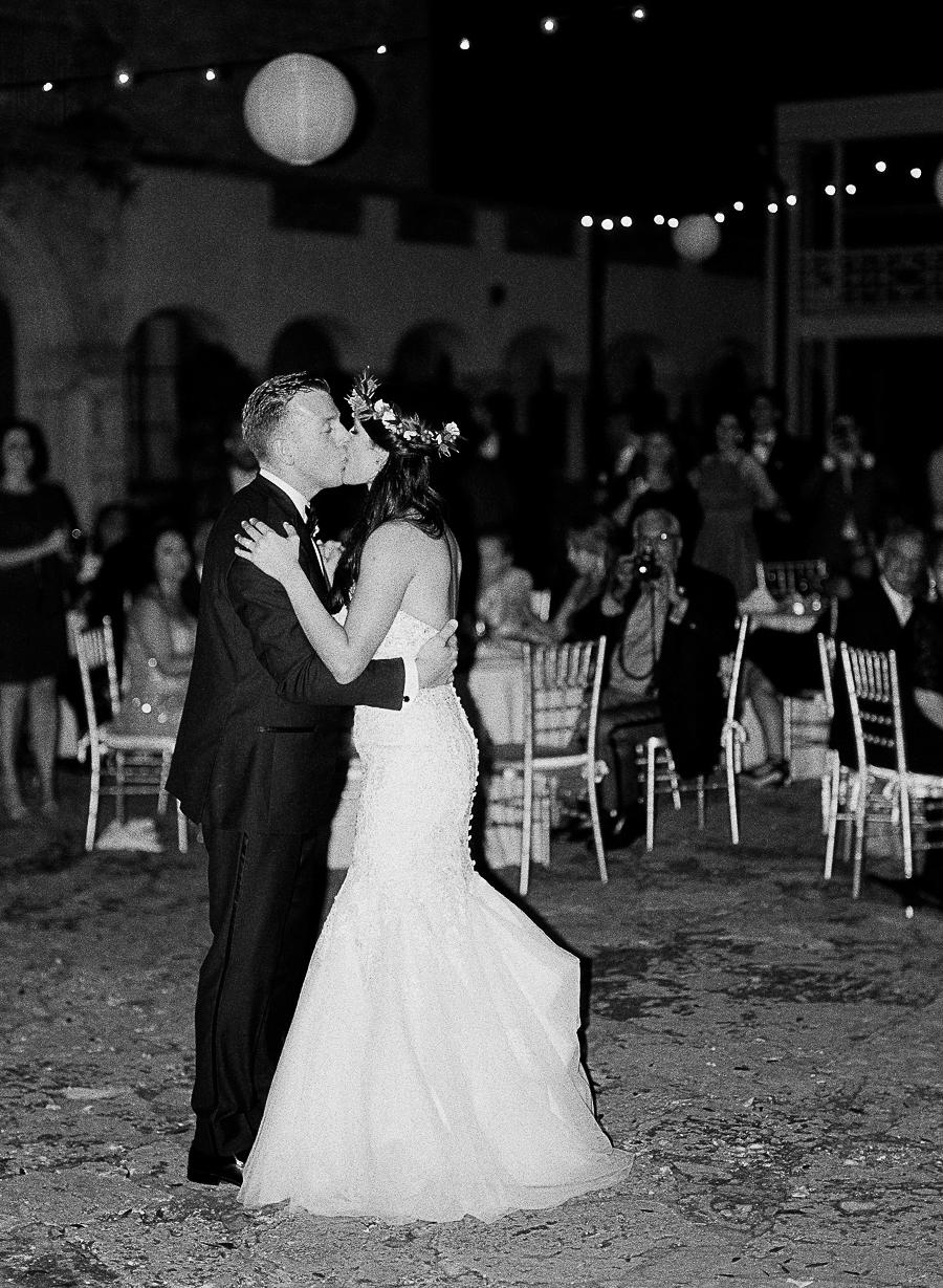 A Classic Blush & Silver Outdoor Miami Wedding via TheELD.com